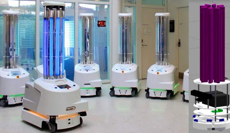 Desarrollan robot mexicano para desinfectar hospitales mediante luz UltraVioleta