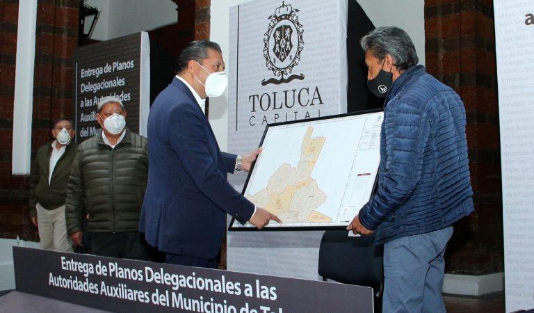 Con planos delegacionales de Toluca, futuras generaciones tendrán certeza jurídica