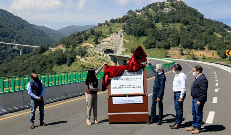 Inaugura Alfredo Del Mazo autopista Toluca-Naucalpan