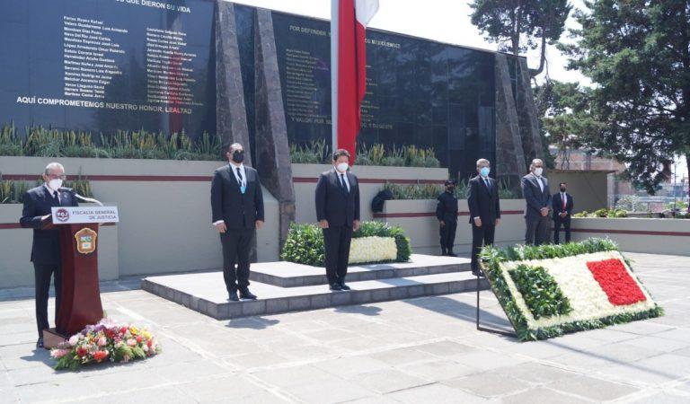 Incorporan al muro de honor el nombre de siete PDI que fallecieron en cumplimiento de su deber