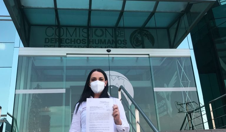 Gabriela Gamboa presenta ante Codhem e IEEM denuncias por llamadas nocturnas con su nombre y voz