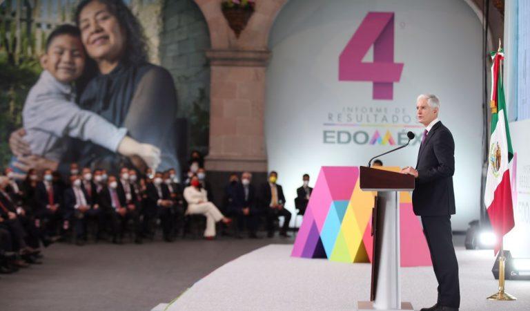 Invita Del Mazo Maza a la unión de esfuerzo en el estado de México al rendir Cuarto Informe de Gobierno