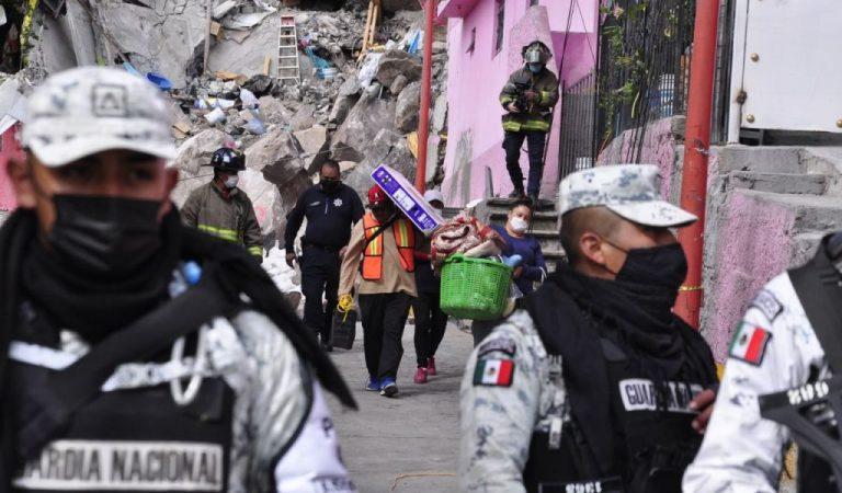 Autoridades piden a la población no quemar pirotecnia en la periferia del Cerro del Chiquihuite